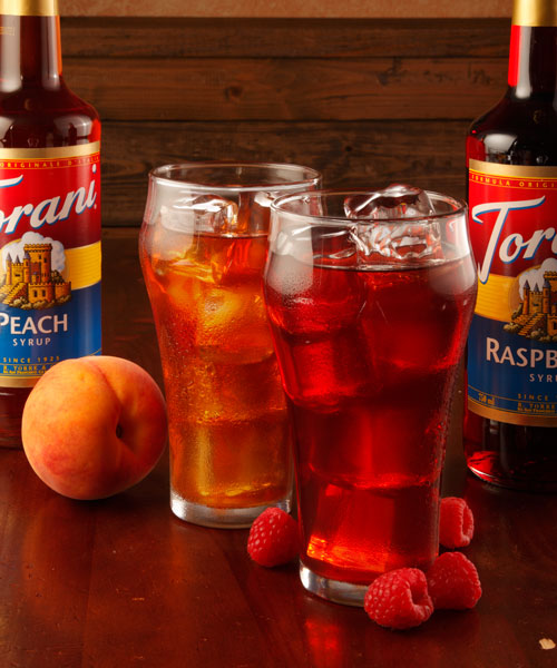 Raspberry and Peach Tea